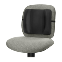 Sit comfortably with a Fellowes ergonomic backrest.
