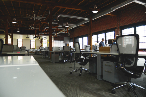 large open office/collaborative workspace