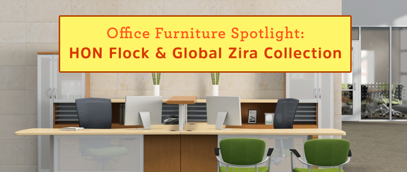 Office Furniture Spotlight: HON Flock & Global Zira Collection