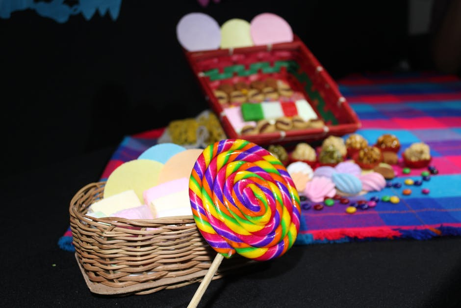 A closeup picture of assorted candies
