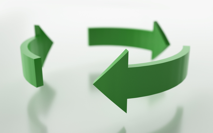 Green recycle arrows
