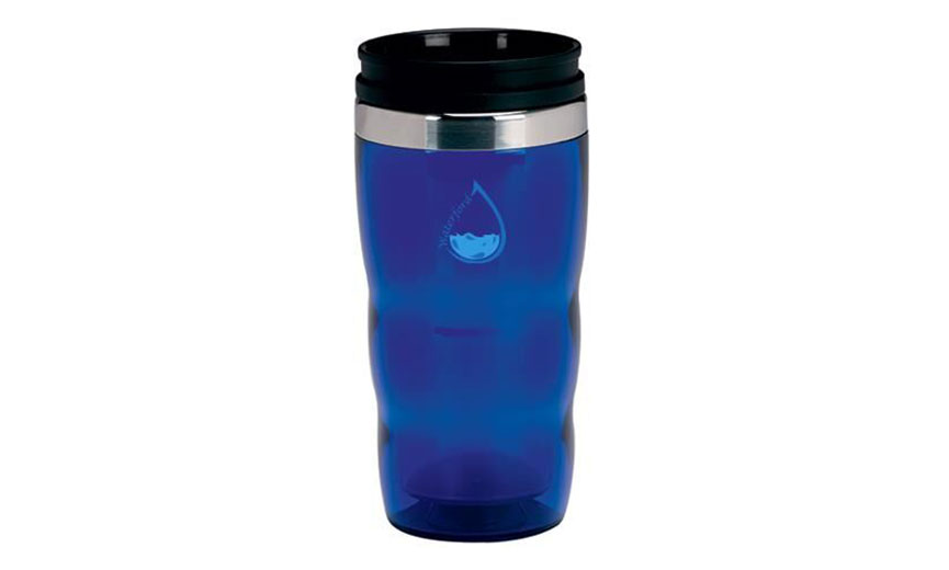 blue thermos