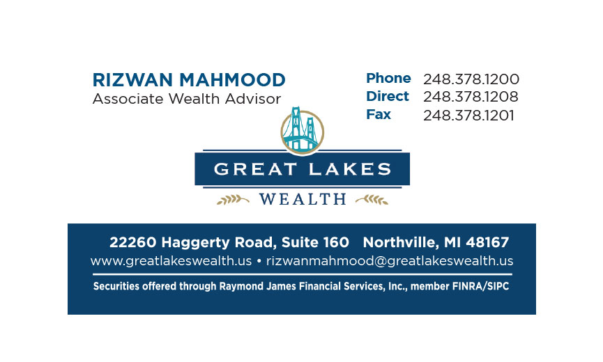 Great Lakes business card