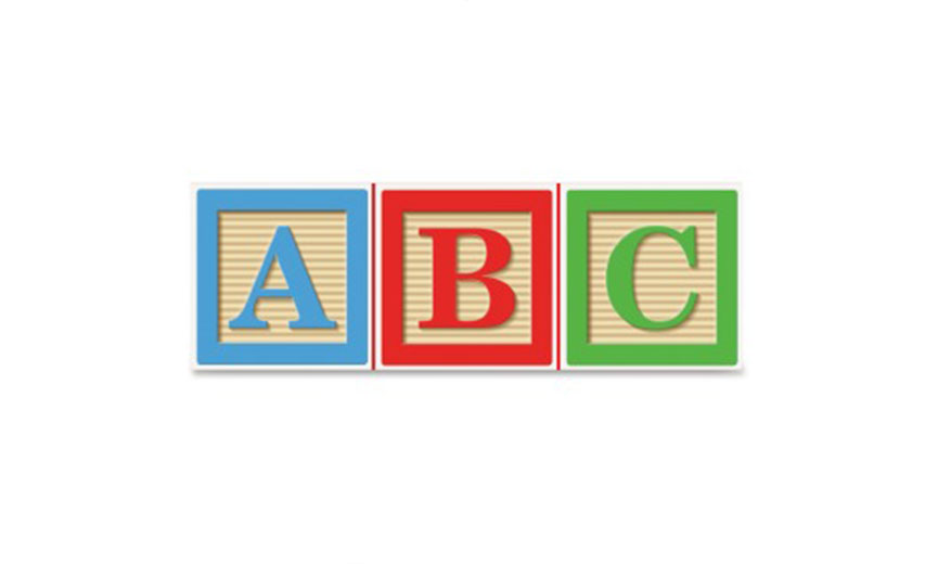 red, blue and green A,B and C blocks