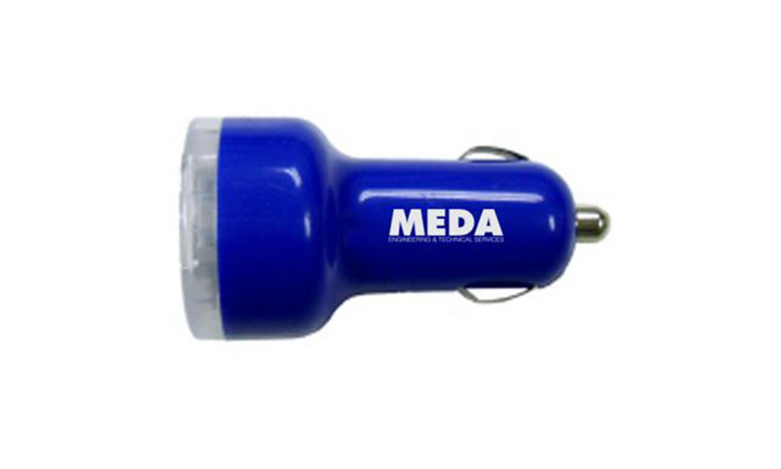 blue MEDA car electric adapter