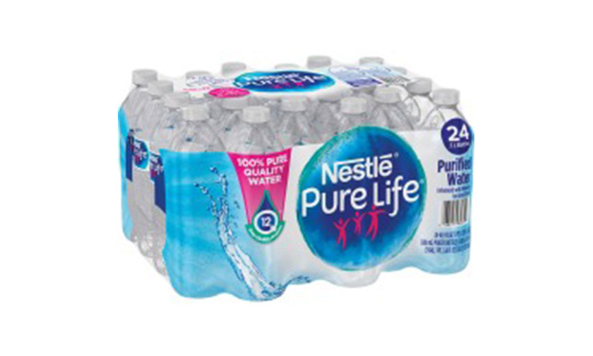 case of nestle water
