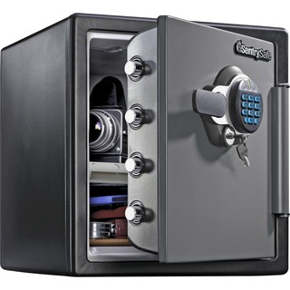 Electronic Safe With Keypad & Key Lock for Protection