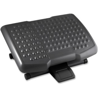 Adjustable Grey Footrest with Surface Bumps