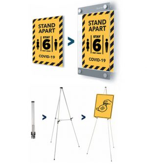 sign displays and easels