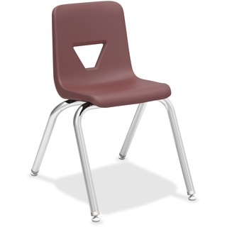 "Lorell 16"" Seat-height Stacking Student Chairs"